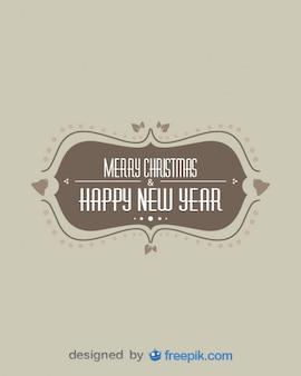 Vintage vrolijke Kerstmis & Gelukkig Nieuwjaar