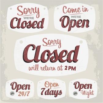 open closed sign template - open deur foto gratis download