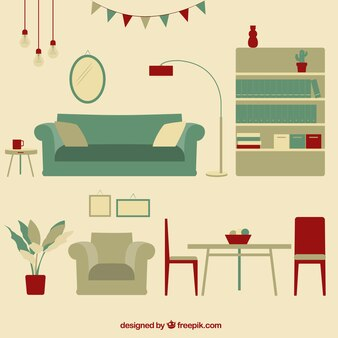 Vintage woonkamer meubels