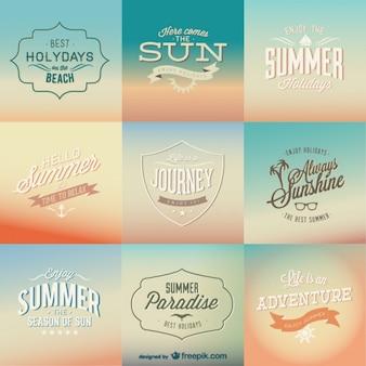 Vintage zomer achtergronden