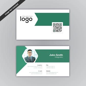 Visitekaartje groen en wit design