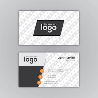 Visitekaartje zwart-wit ontwerp
