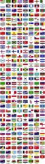 vlaggen van de wereld alfabetisch gesorteerd