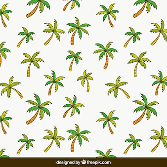 Vlak patroon met palmbomen