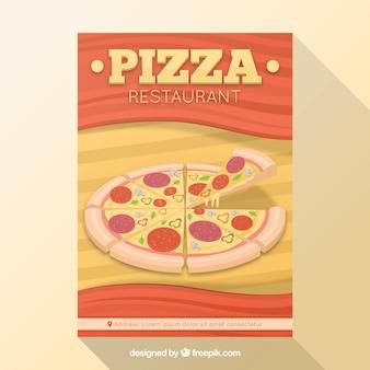 Vlakke design Italiaanse restaurant flyer