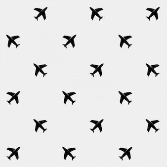 Vliegtuigen patroon achtergrond