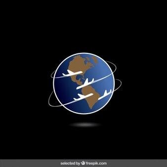 Vliegtuigen rond de wereld reizen