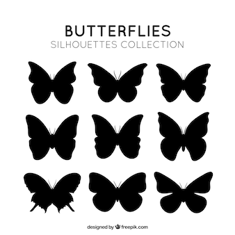 Vlinders silhouetten pakken