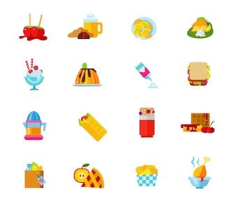 Voedsel iconen collectie