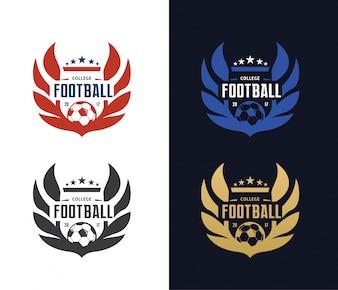Voetbal logo, Voetbal Logo, Sport team logo, vectorTemplate