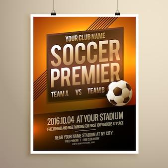 Voetbal sport flyer poster vector design template