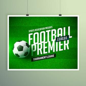 Voetbal voetbalkampioenschap presentatie flyer