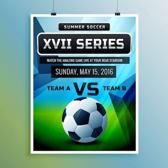 Voetbalkampioenschap flyer template