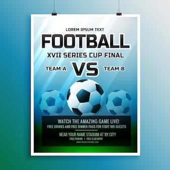 Voetbalwedstrijd evenement toernooi uitnodiging design template