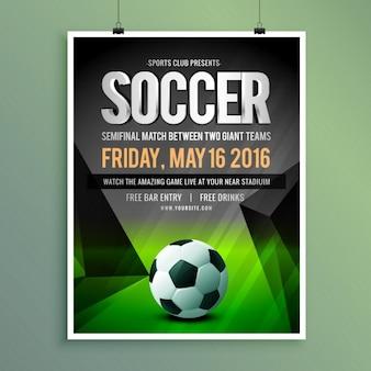 Voetbalwedstrijd flyer template design