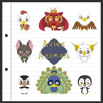 Vogel dieren collectie