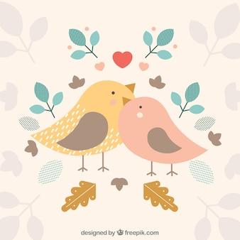 Vogels achtergrond ontwerp