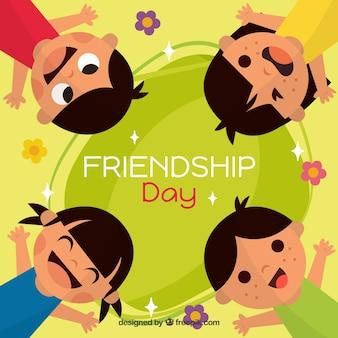 Vriendschap dag achtergrond met kinderen