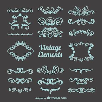 Vrij vintage versieringen instellen