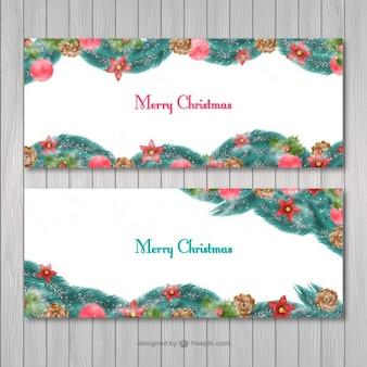Vrolijk Kerstmis banners