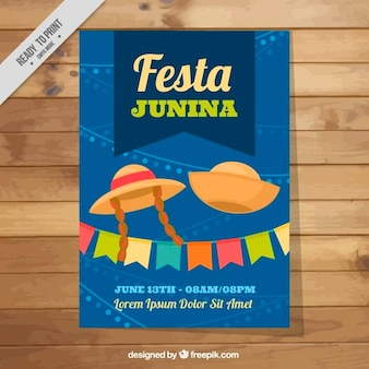 Vrolijke festa Junina brochure