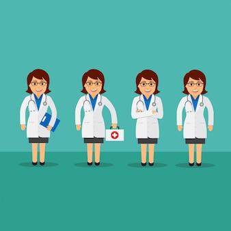 Vrouwelijke arts set