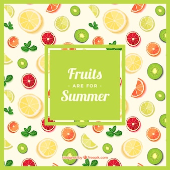 Vruchten patroon