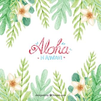 Water kleur aloha achtergrond