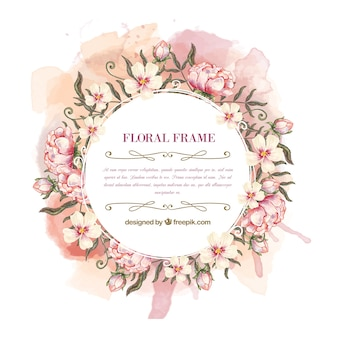 Watercolor floral kroonframe