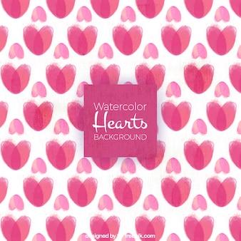 Watercolor harten achtergrond