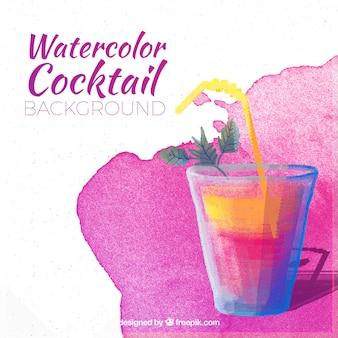 Waterkleur zomer cocktail achtergrond