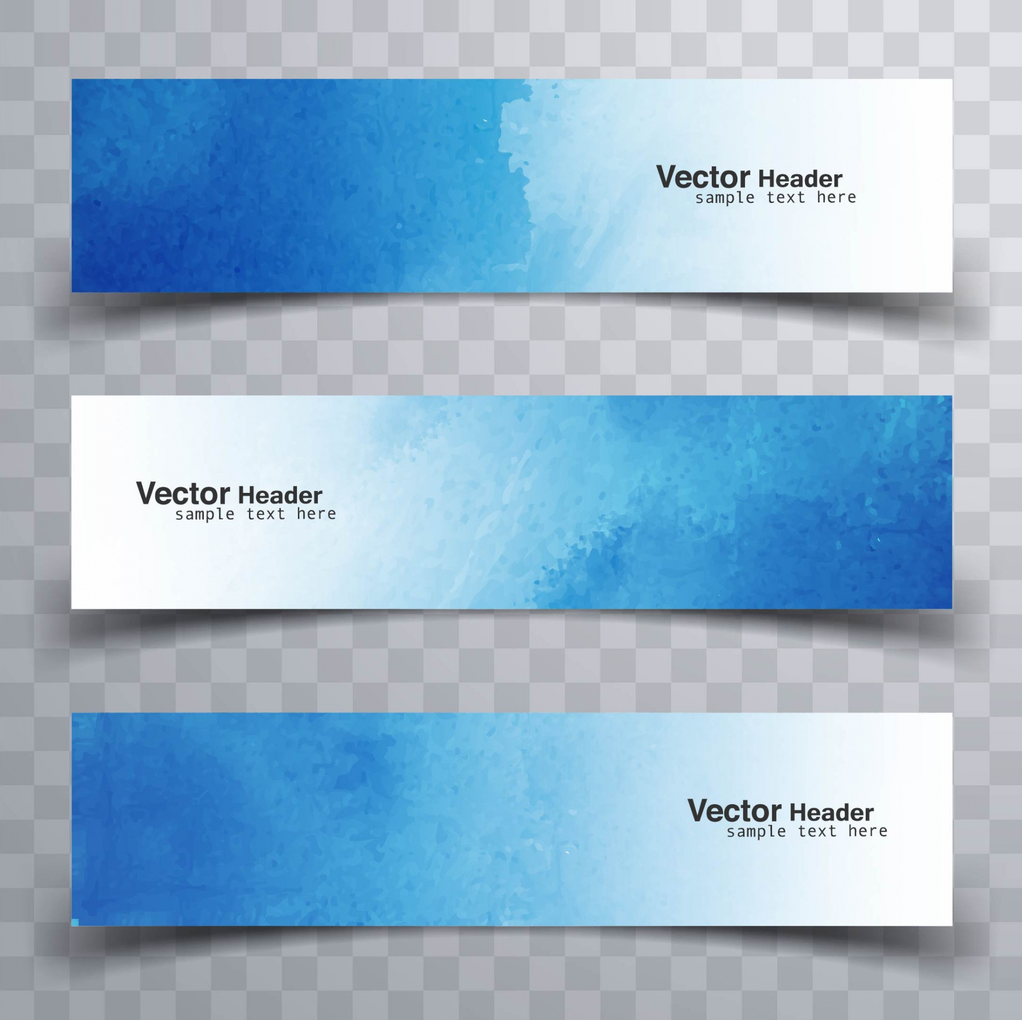 Waterverf banners