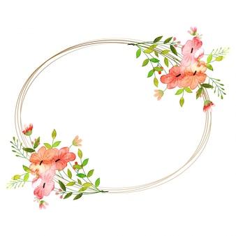 Waterverf bloemen set. Kleurrijke bloemen collectie met bladeren en bloemen. Voorjaar of zomerontwerp voor uitnodiging, bruiloft of wenskaarten.