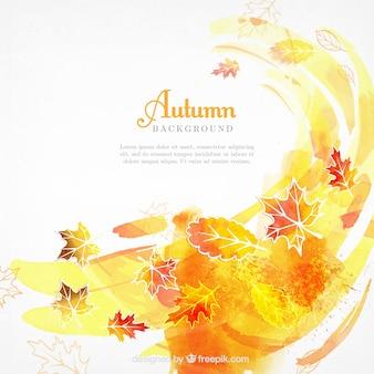 Waterverf herfst achtergrond met abstracte stijl