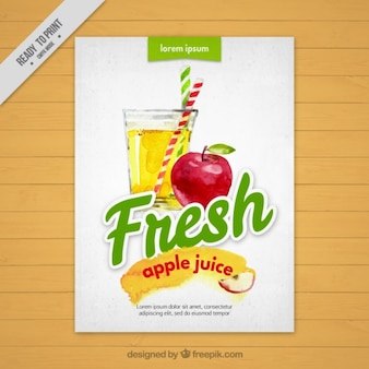 Waterverf het vruchtvlees appelsap brochure