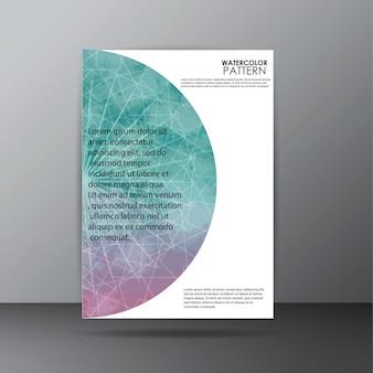 Waterverf patroon omslag pagina ontwerp