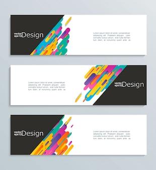 Web banner voor uw ontwerp, header template.