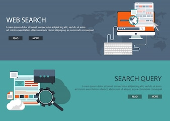 Web development en search banners