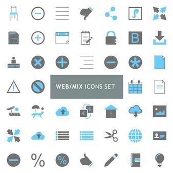 Web Mix icon set