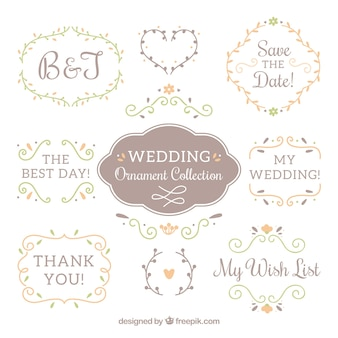 Wedding ornamenten collectie