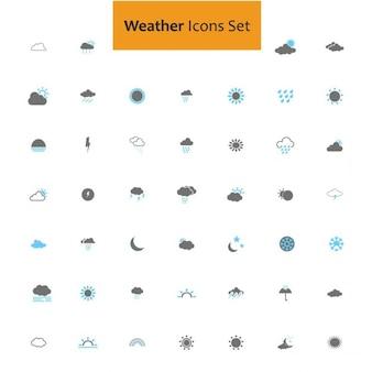 Weer pictogram set