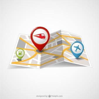 Wereld papieren kaart gratis template