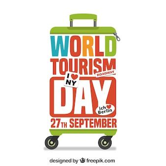 Wereld toeristische dag achtergrond