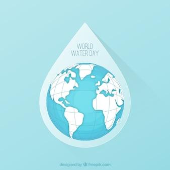 Wereld water dag daling