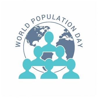 Wereldbevolking dag volkeren symbolen
