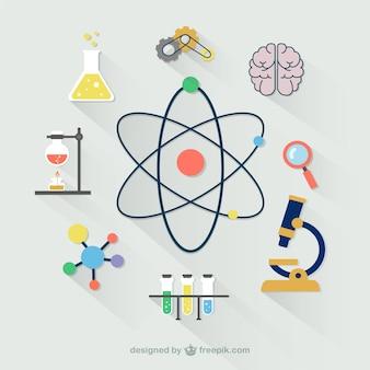 Wetenschap icoon collectie