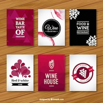 Wijn flyers