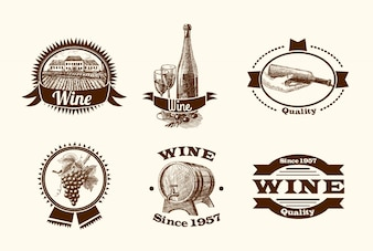 Wijnschetsetiketten
