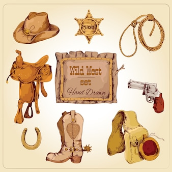 Wild west elementen set