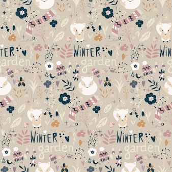 Winter patroon ontwerp